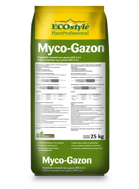 Myco gazon korrel ecostyle 25 kg ecostyle gazon en for Gazon 25 kg